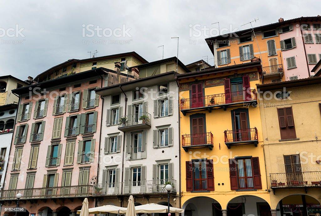 Lovere (Bergamo, Italy), historic square stock photo