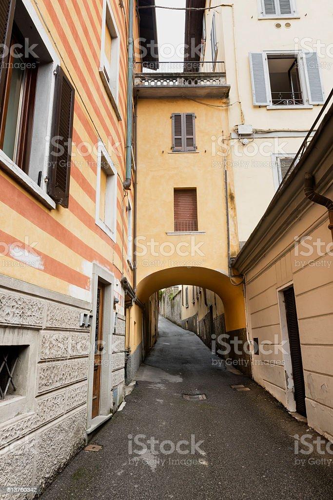 Lovere (Bergamo, Italy), old street stock photo