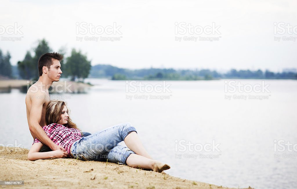 Lovers at nature royalty-free stock photo