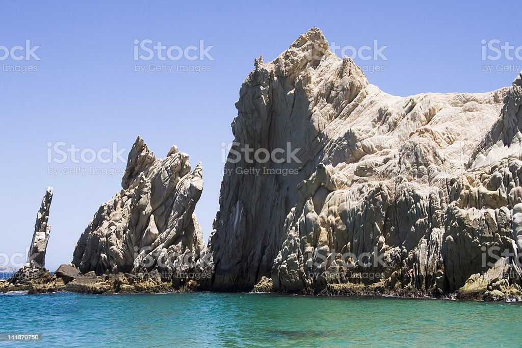 Lover's Beach Pillars 1 royalty-free stock photo