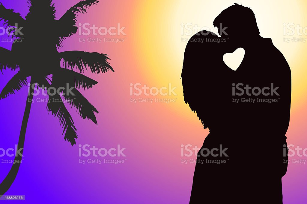Lovers couple at background stock photo