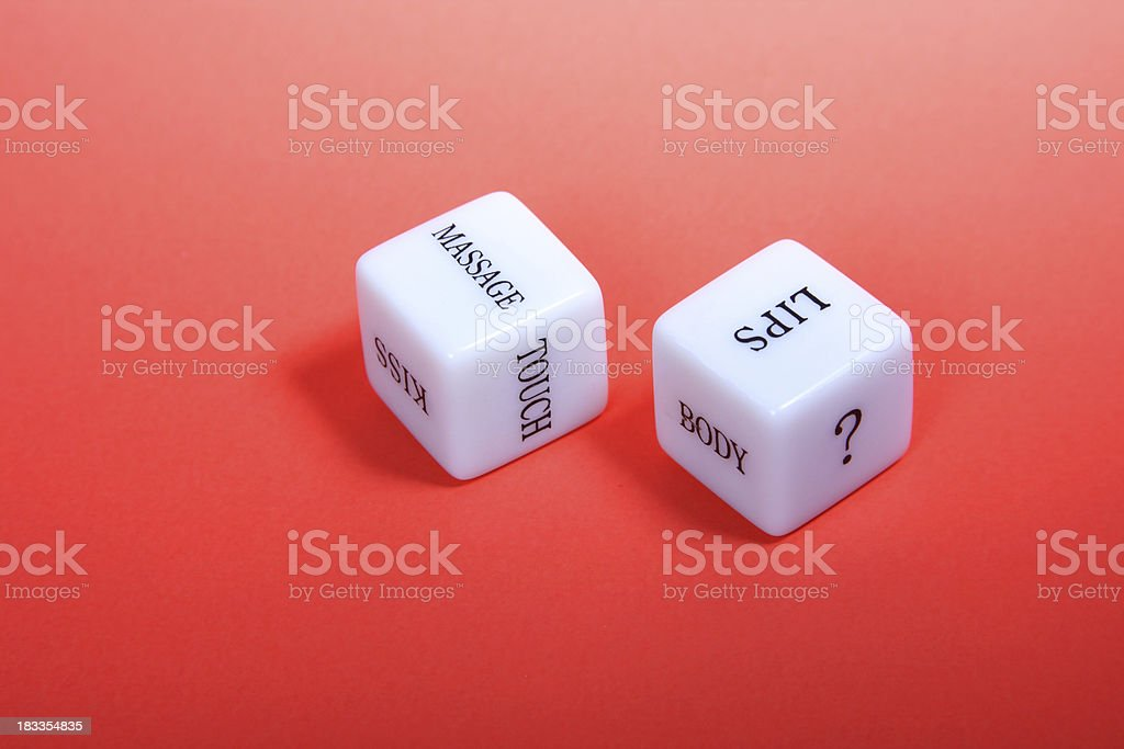 Lover's Dice royalty-free stock photo