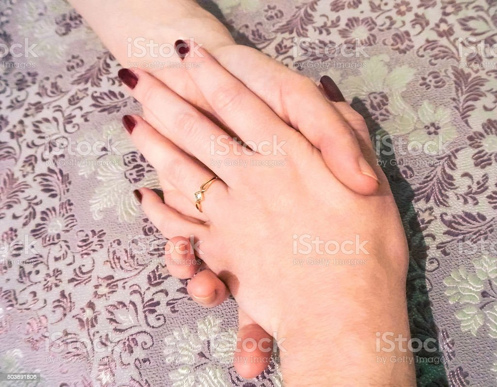 Lover's Hands stock photo