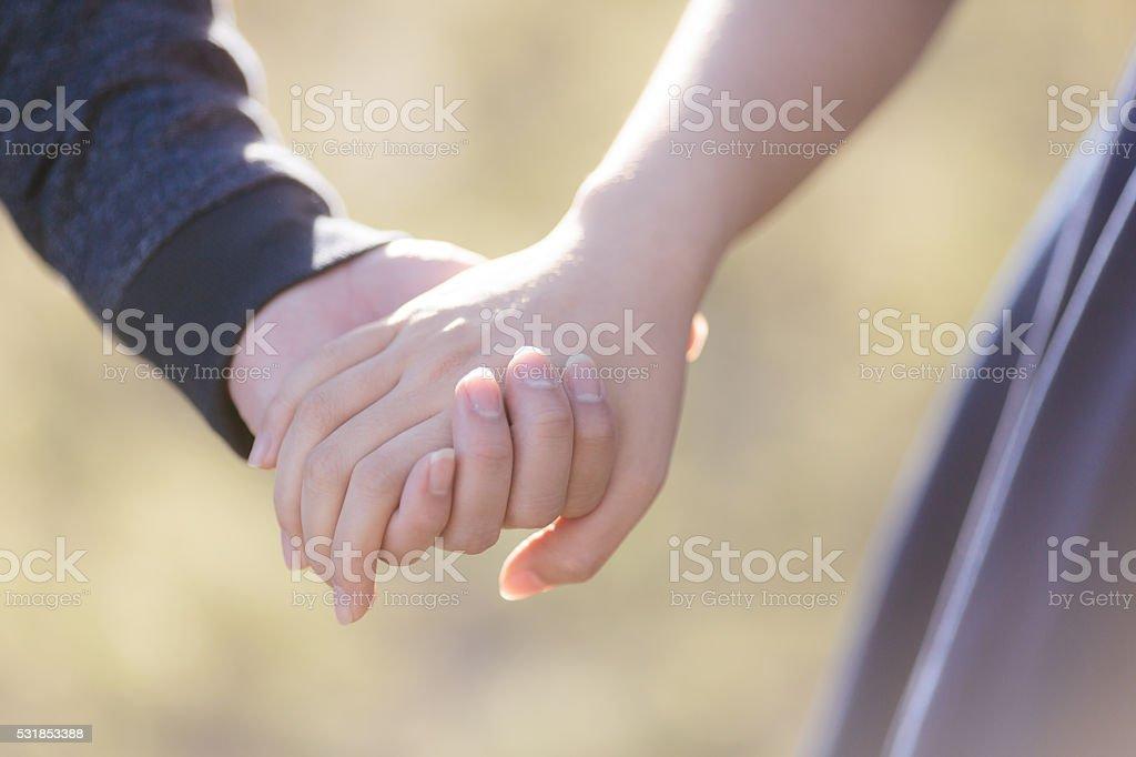 Lovers руки Стоковые фото Стоковая фотография