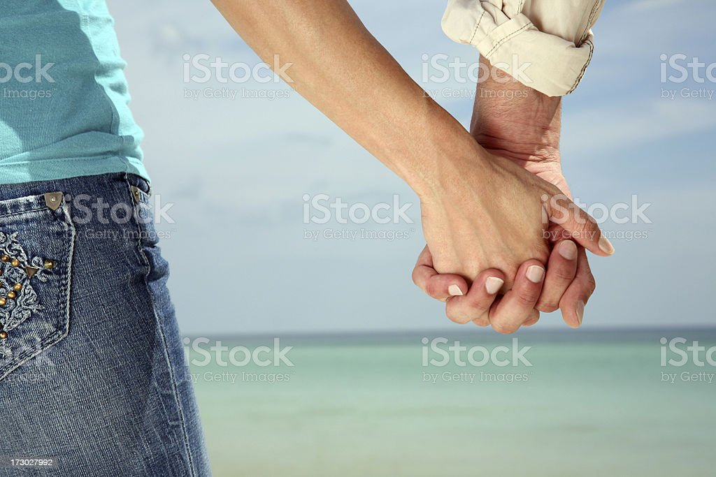 Lovers Holding Hands royalty-free stock photo
