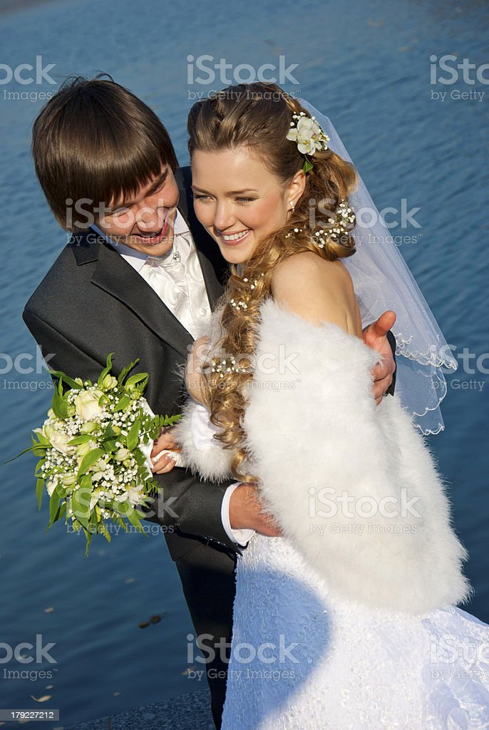 lovers honeymoon royalty-free stock photo