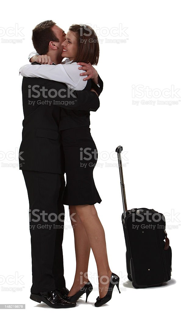 Lovers hugging royalty-free stock photo