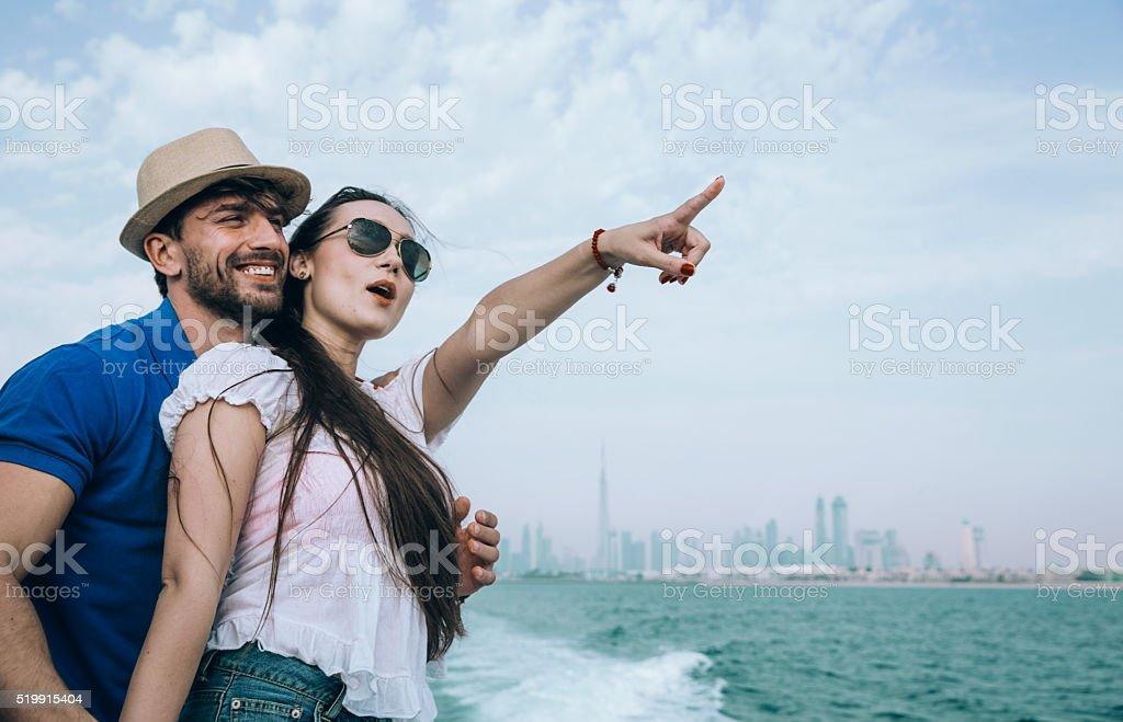 Lovers in Dubai stock photo
