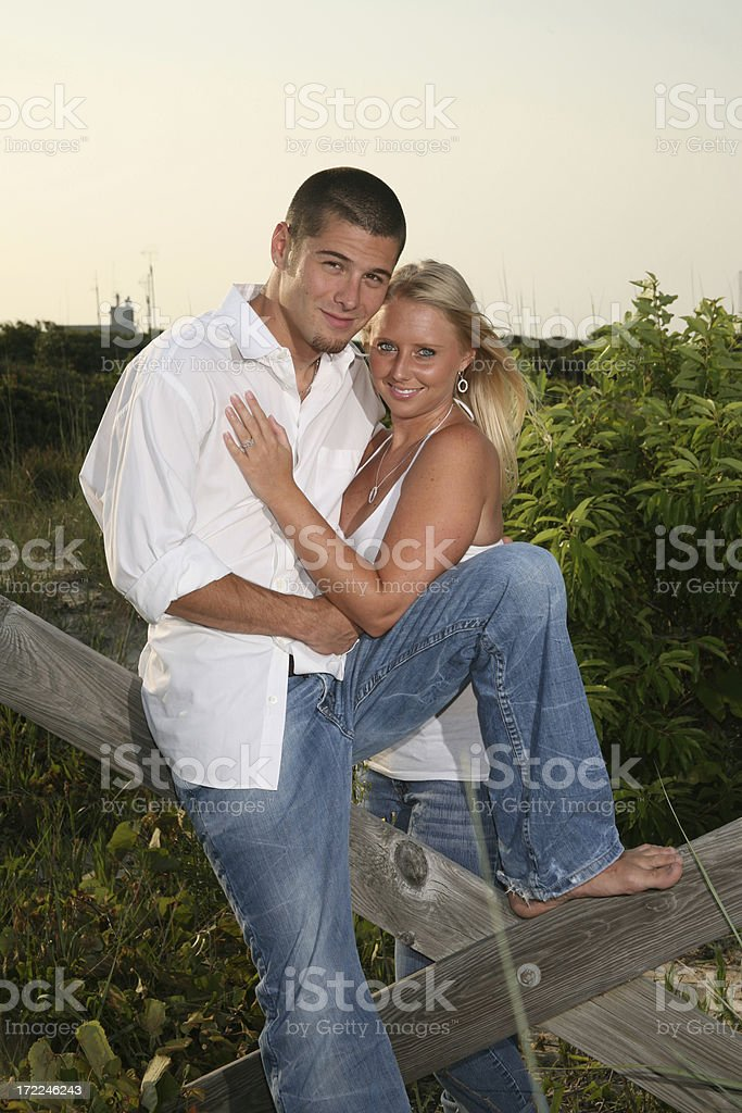 Lovers in love.  See others from this session. royalty-free stock photo