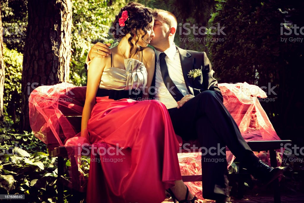 Lovers in nature royalty-free stock photo