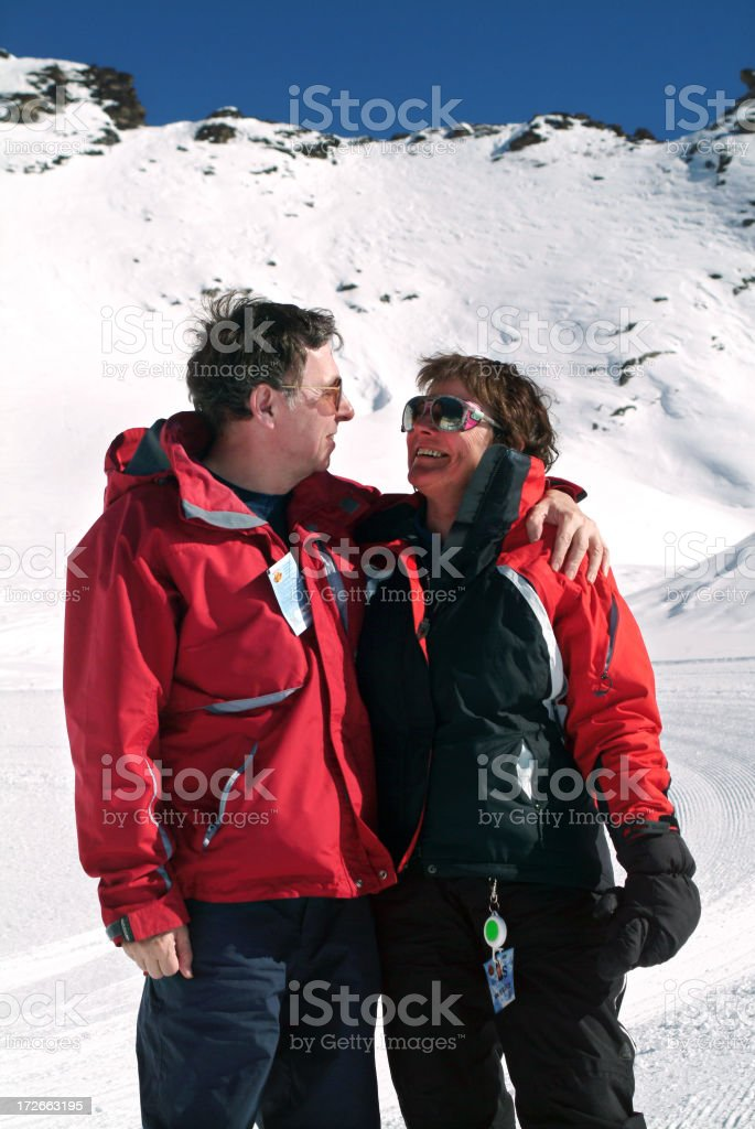 Lovers in the snow 3 royalty-free stock photo