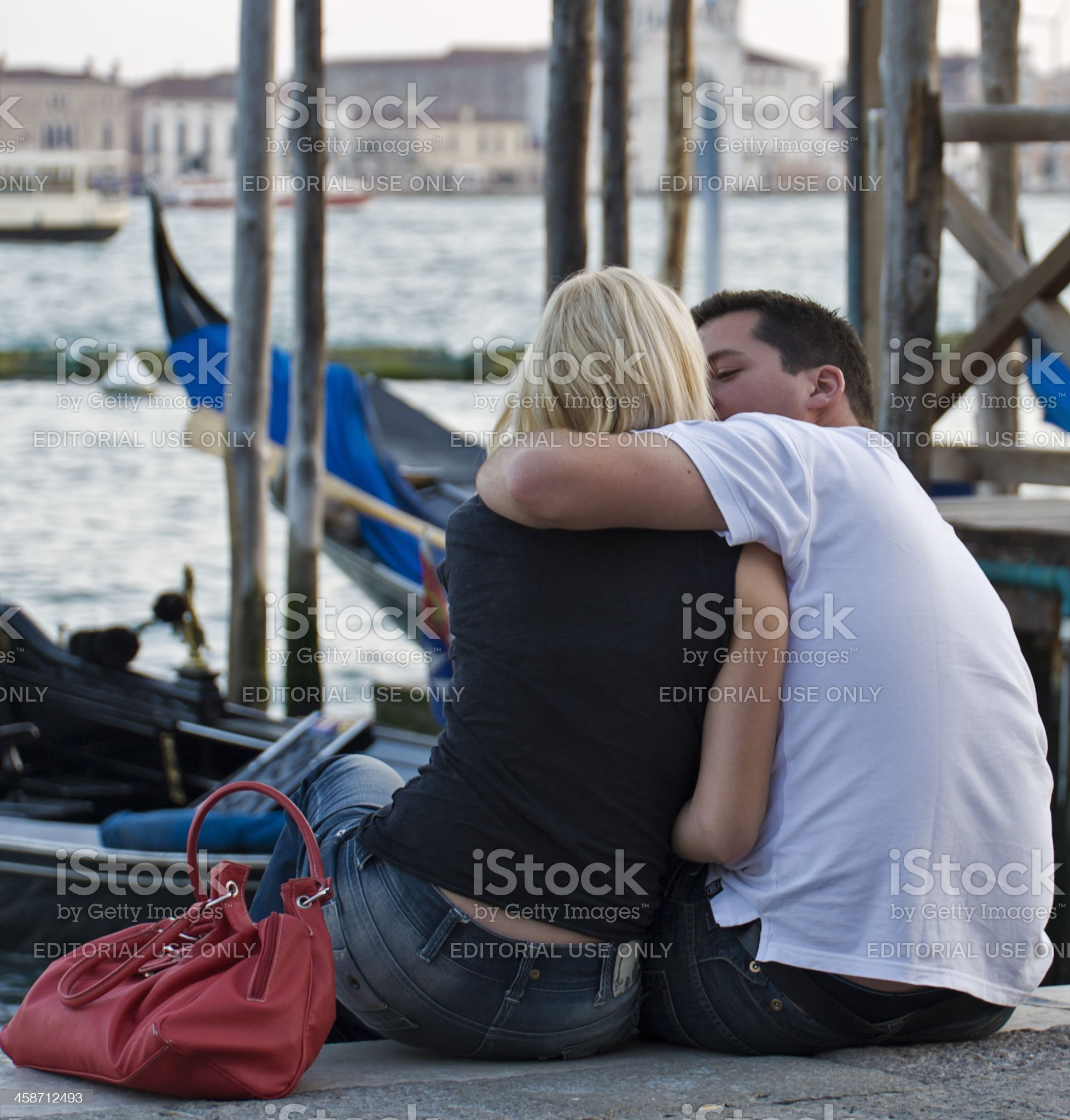Lovers in Venice royalty-free stock photo