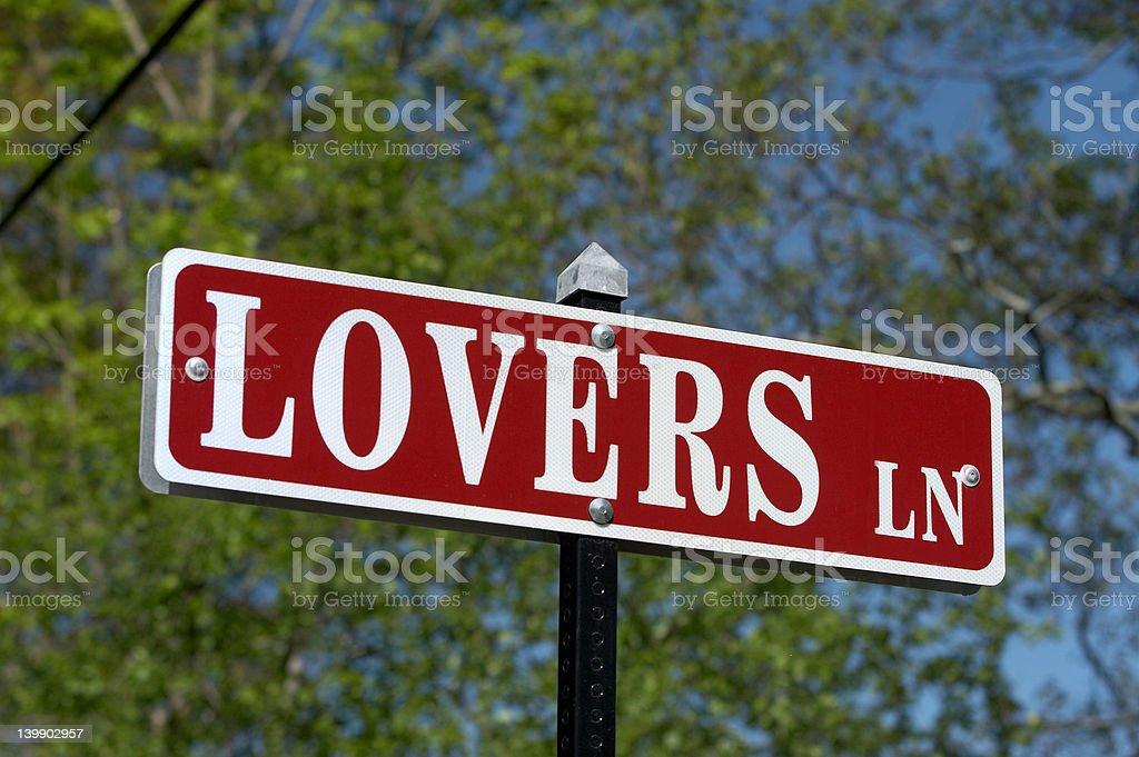 Lovers Lane royalty-free stock photo