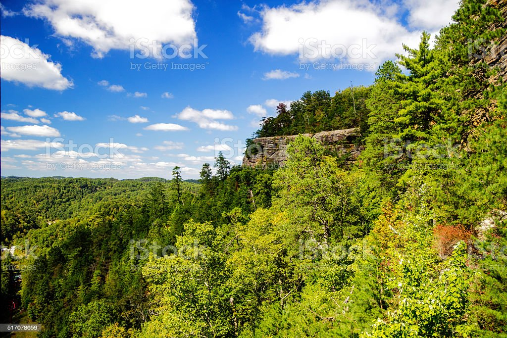 Lovers Leap At Natural Bridge State Park In Kentucky stock photo