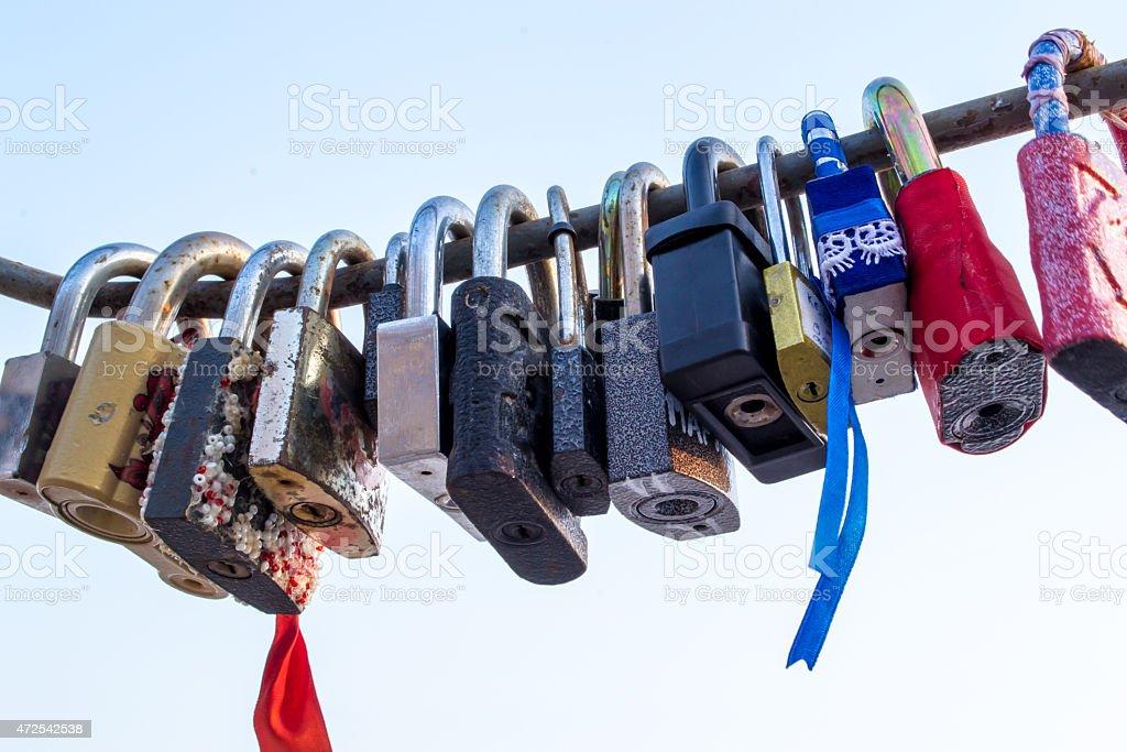 Lovers Locks stock photo