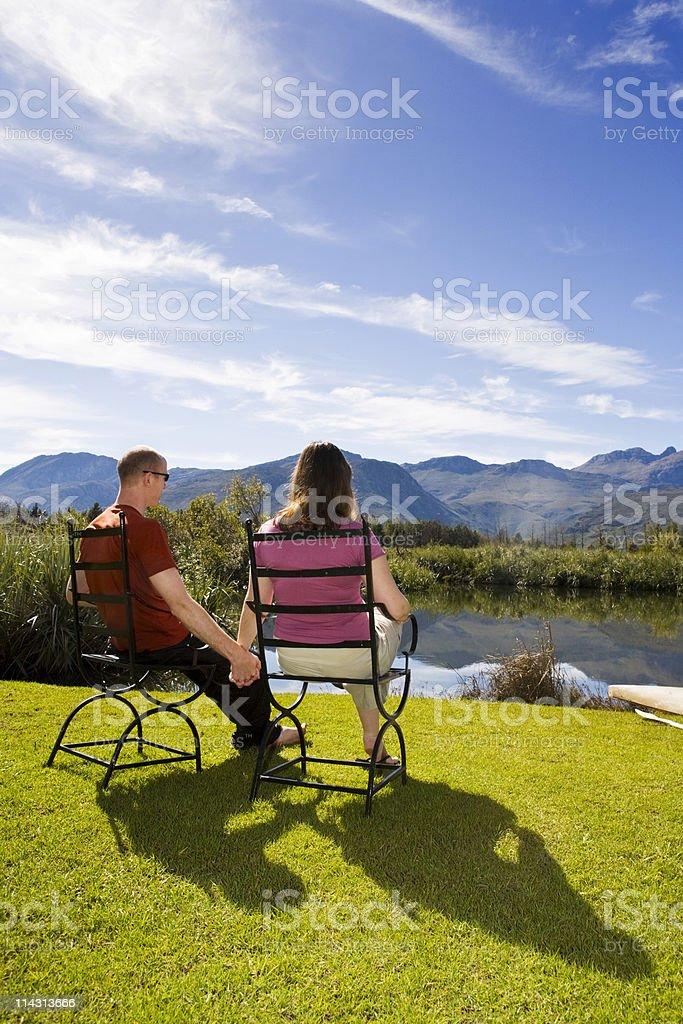Lovers on holiday royalty-free stock photo