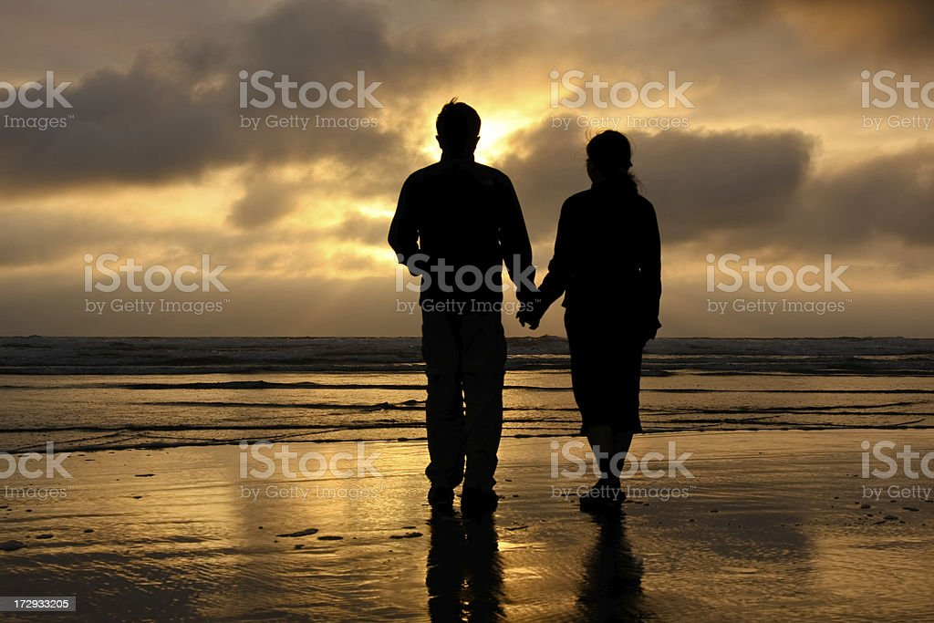 Lover's sunset royalty-free stock photo