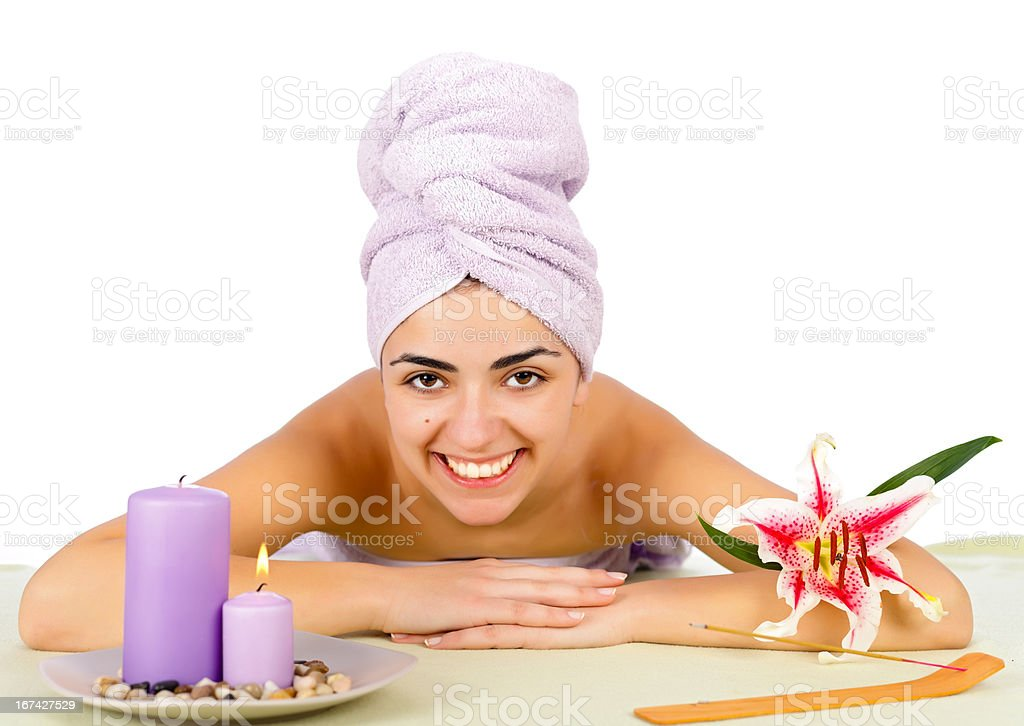 Loves Being At Spa royalty-free stock photo