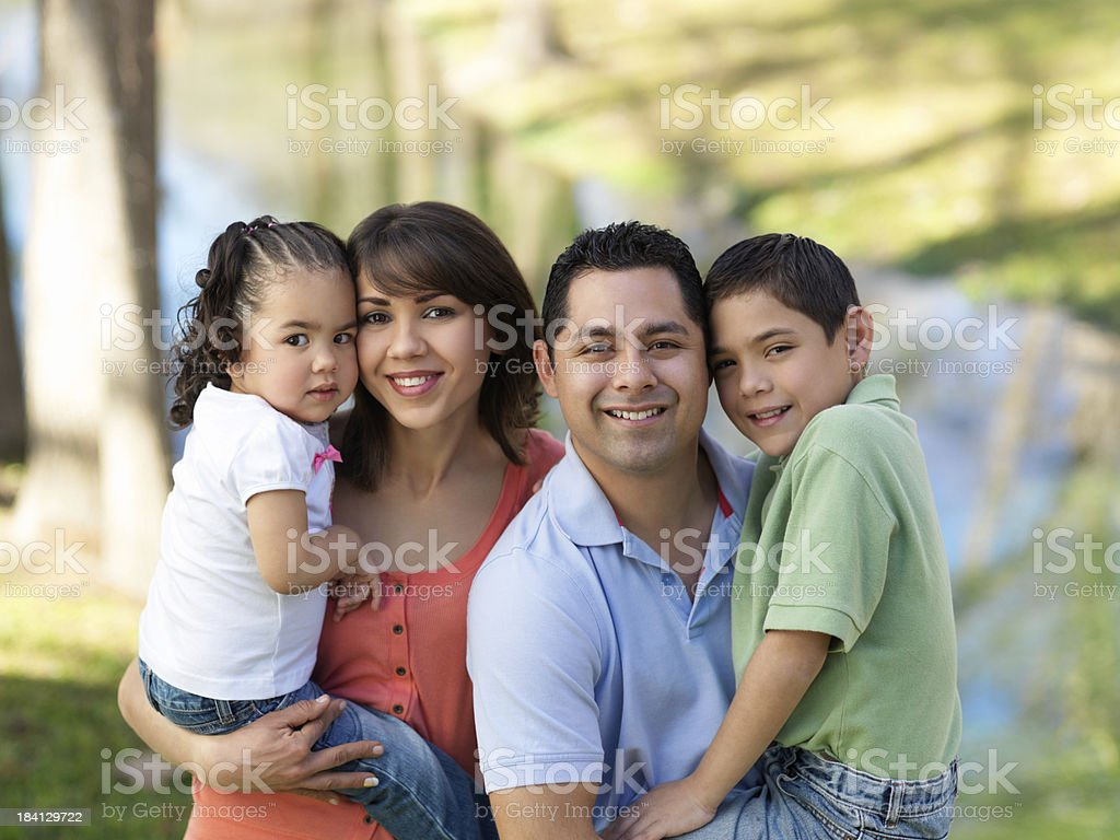 Loving and caring family royalty-free stock photo