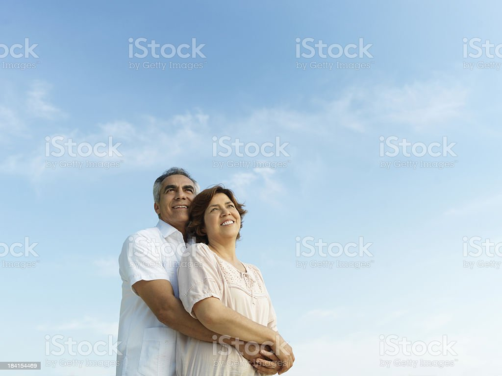 Loving and romantic couple royalty-free stock photo