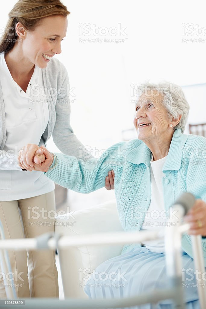 Loving assistance - Senior Care royalty-free stock photo