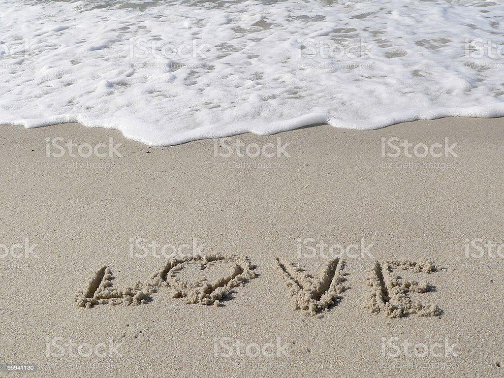 loving beach royalty-free stock photo