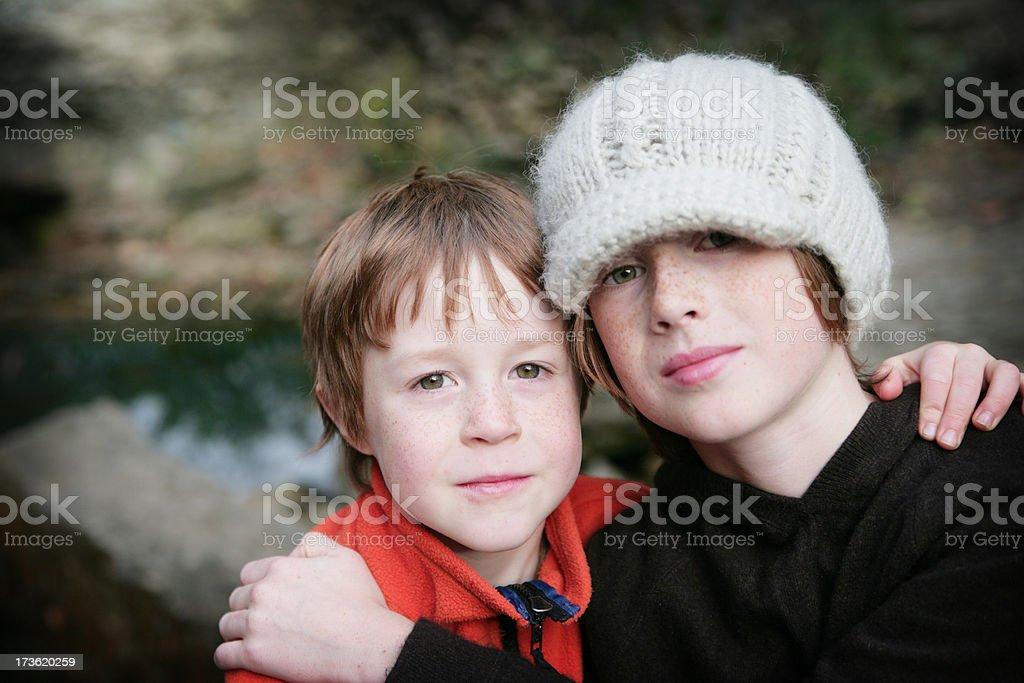 Loving Brothers Series stock photo