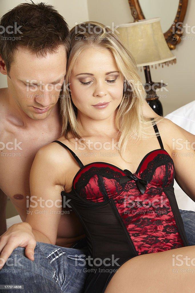 Loving caucasian couple royalty-free stock photo