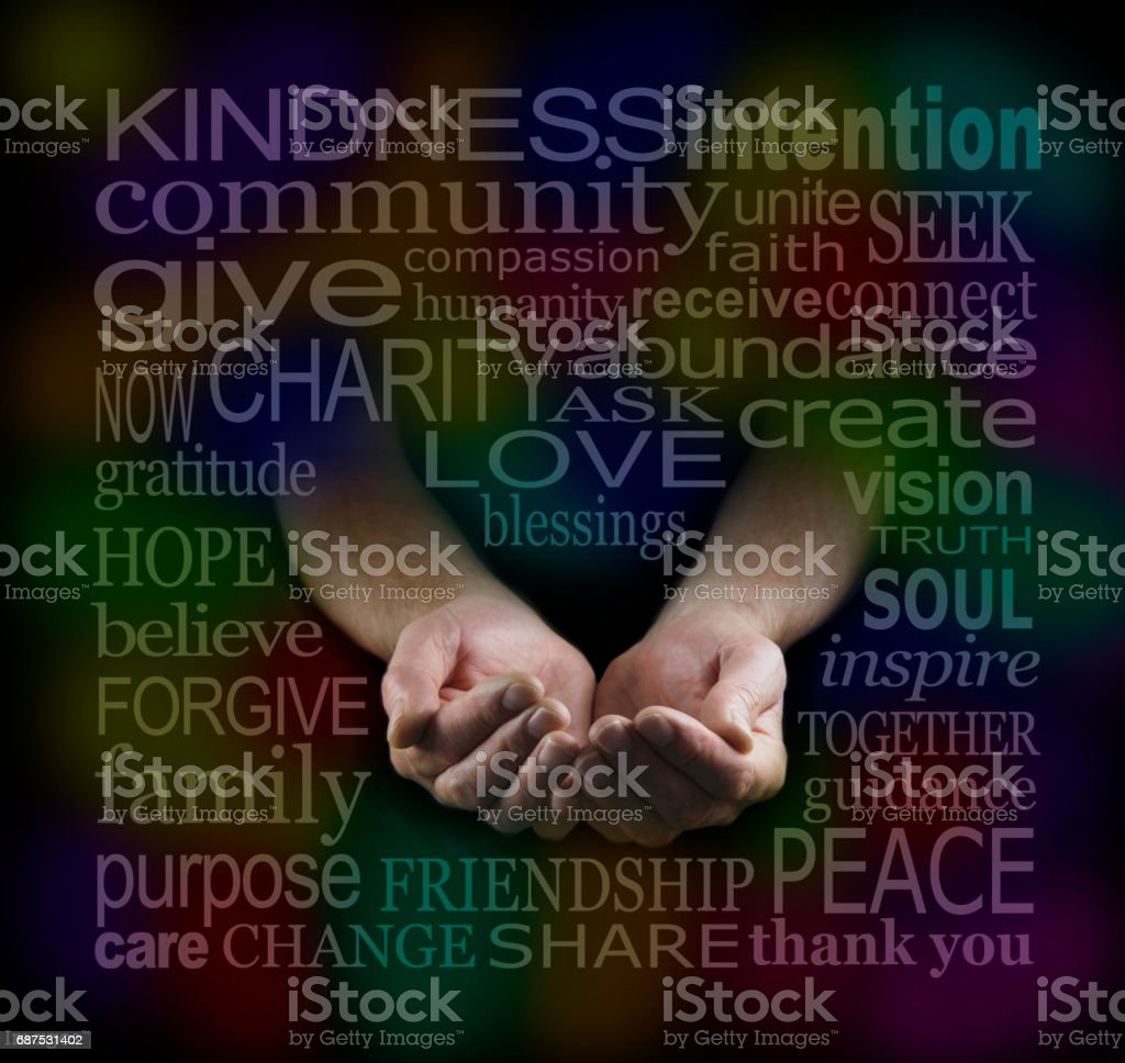 Loving Charitable Word Cloud stock photo