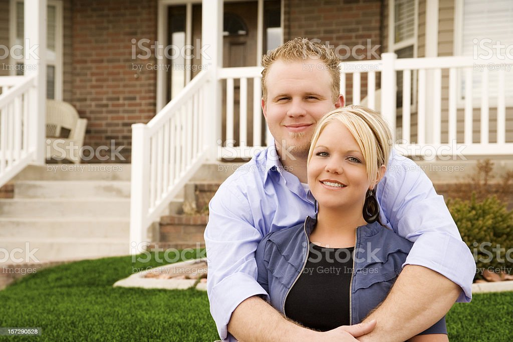 Loving Couple At Home royalty-free stock photo