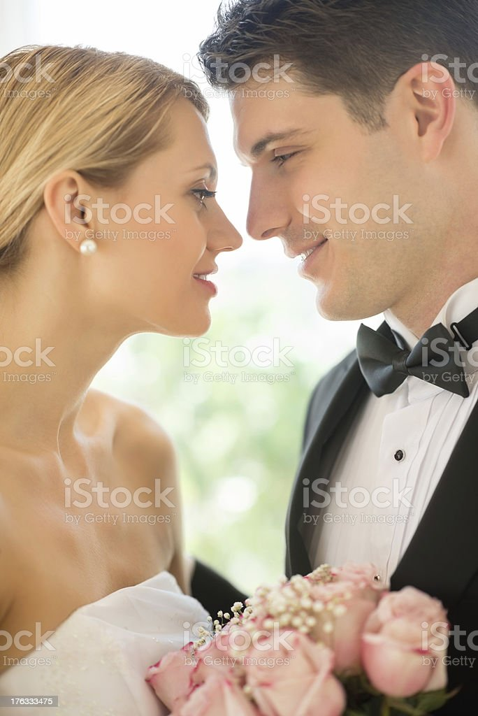 Loving Couple Looking At Each Other royalty-free stock photo
