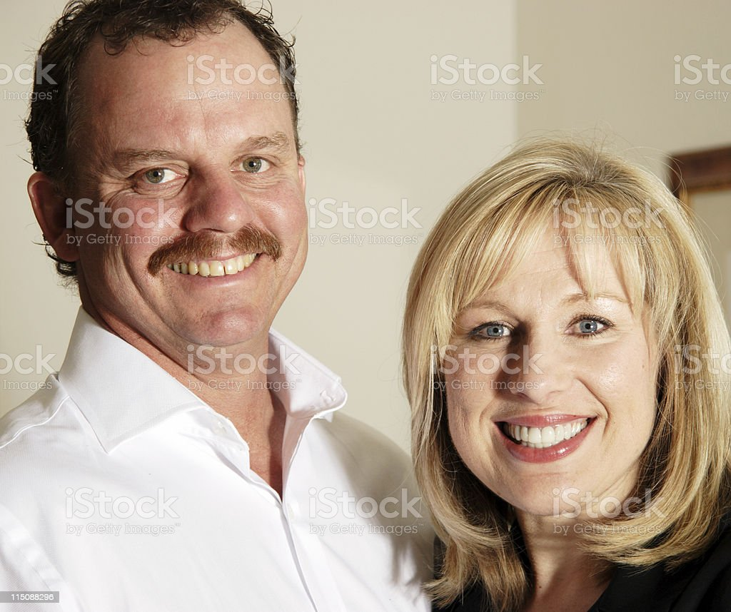 loving couple - middle aged royalty-free stock photo