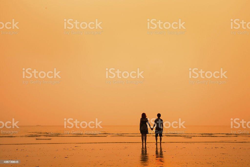 loving couple on the beach royalty-free stock photo