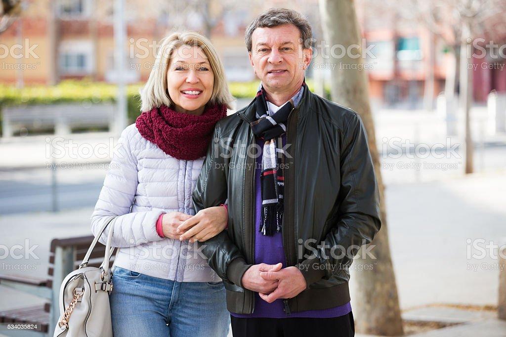 Loving couple posing togethe stock photo