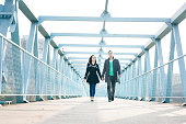 Loving couple, walk