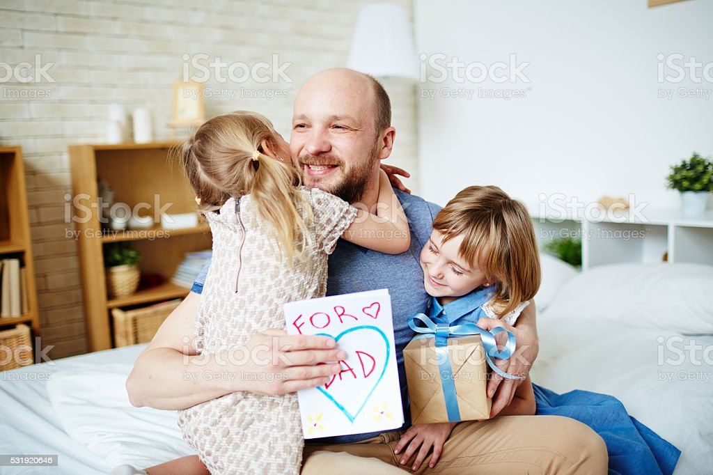 Loving daughters stock photo