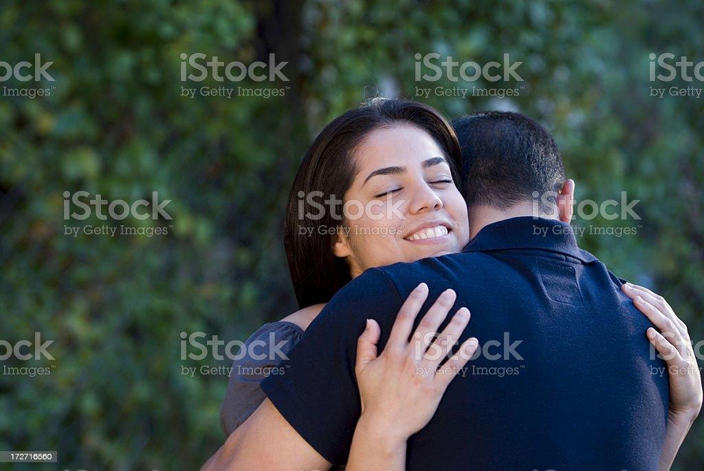 Loving embrace royalty-free stock photo