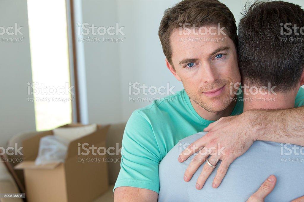 Loving embrace stock photo