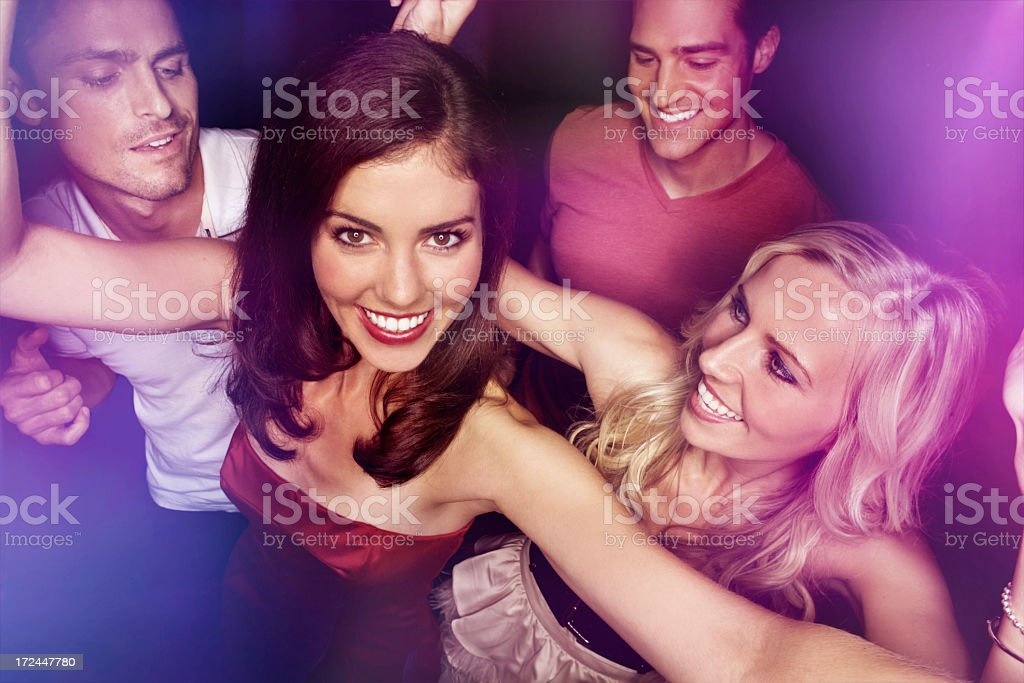 Loving every minute on the dance floor royalty-free stock photo