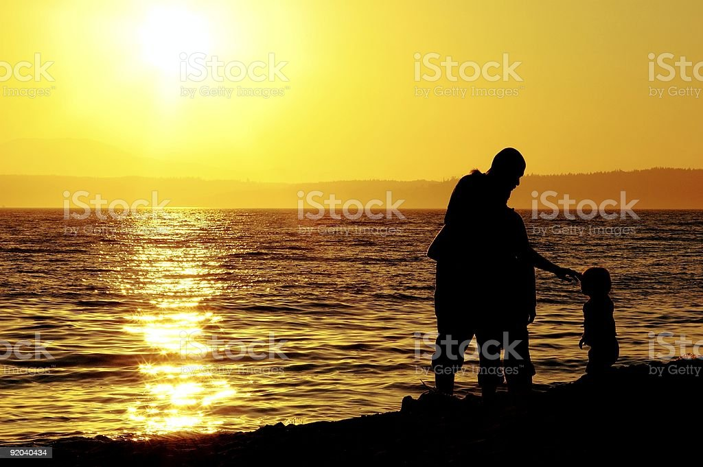 Loving Family by the Ocean royalty-free stock photo