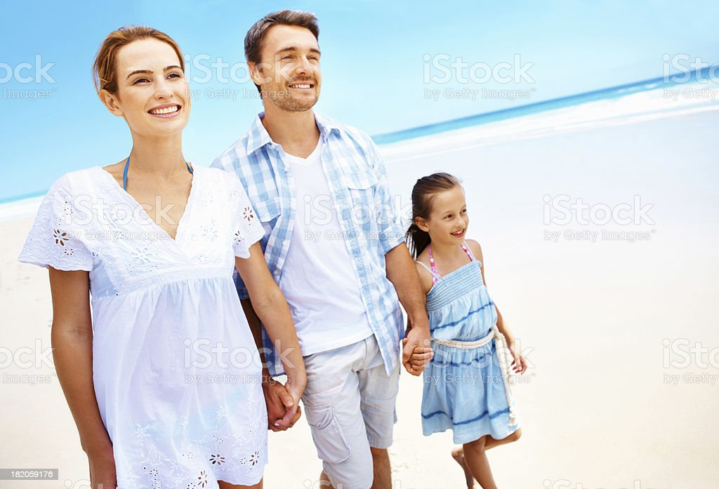 Loving family on a perfect day royalty-free stock photo