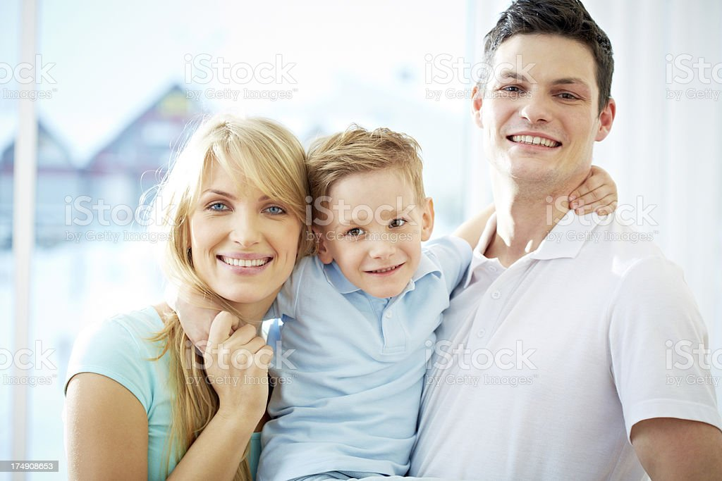 Loving family royalty-free stock photo