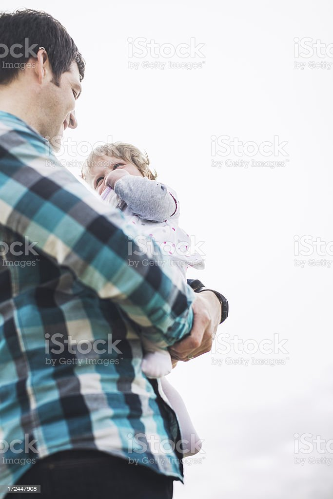 Loving Father with Baby Girl royalty-free stock photo