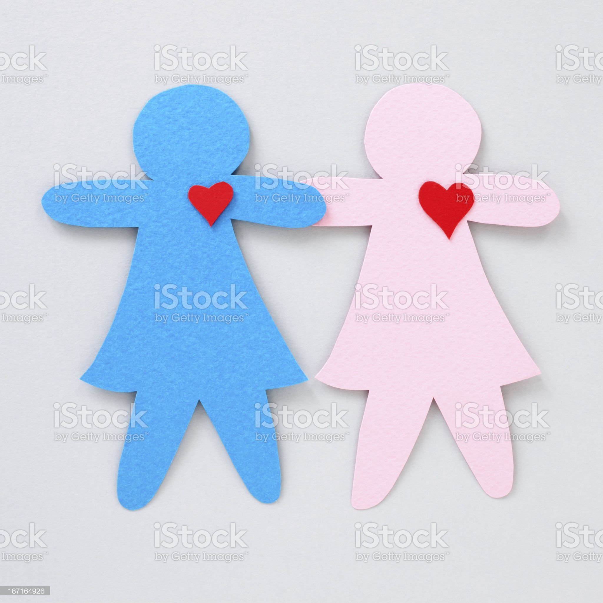 Loving girls couple royalty-free stock photo