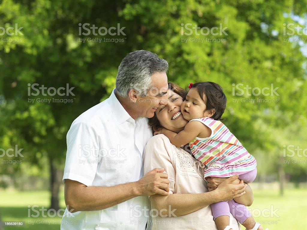 Loving granddaughter royalty-free stock photo