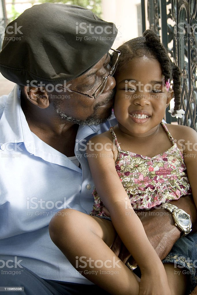 Loving Grandfather stock photo