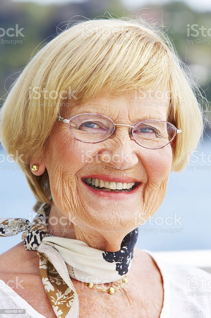 A loving grandparent royalty-free stock photo