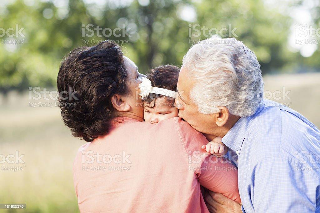 Loving grandparents royalty-free stock photo