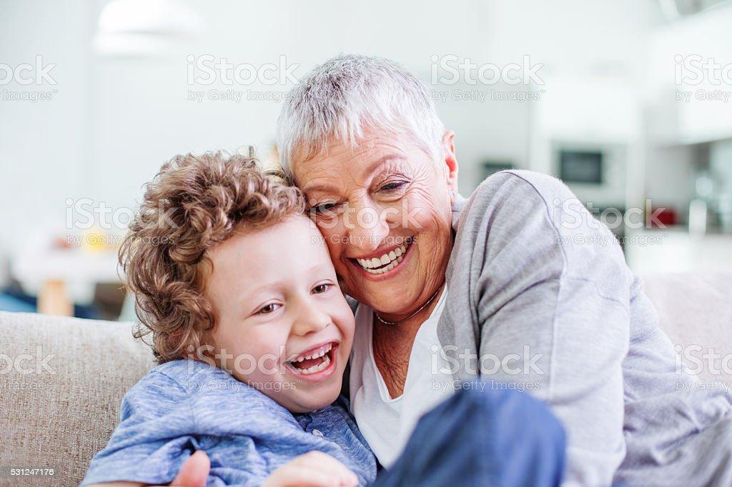 Loving granny stock photo
