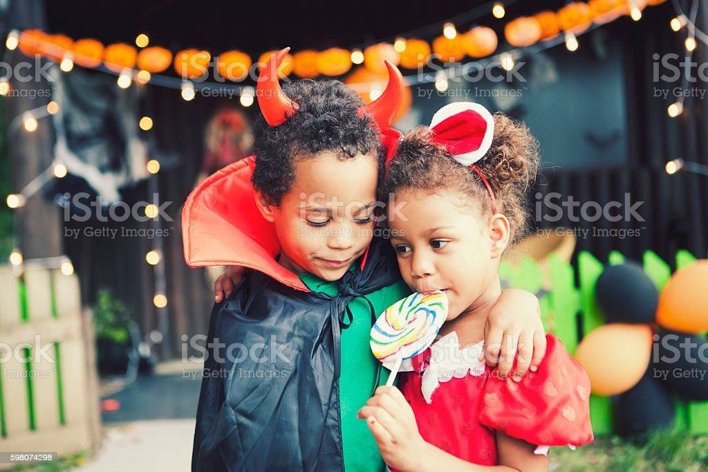 Loving Halloween stock photo